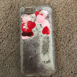 Floating Hearts + Glitter iPhone 6S Case